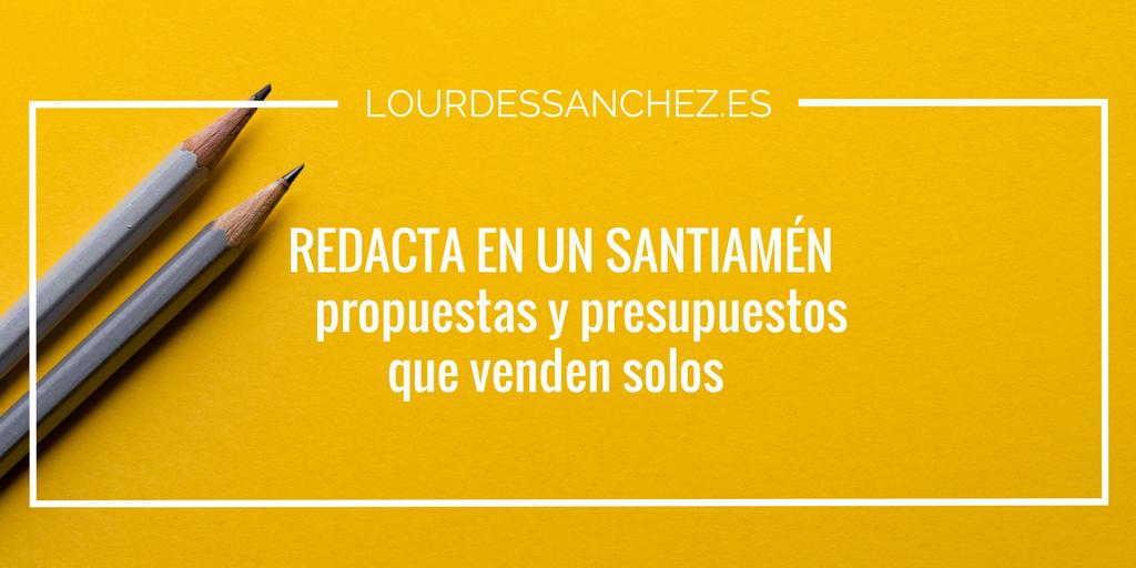 Cómo escribir un presupuesto que vende solo - Lourdes Sánchez